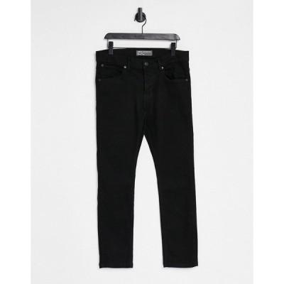 フレンチコネクション メンズ デニムパンツ ボトムス French Connection slim fit jeans in black Black