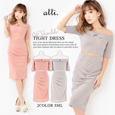 キャバ ドレス キャバドレス ワンピース ナイトドレス 大きいサイズ ウエストカット タイト ミニドレス S M L ピンク グレー シンプル 無