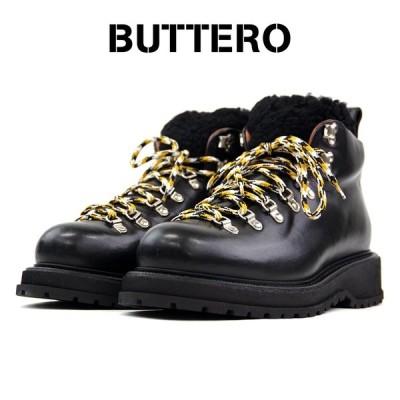 【BUTTERO ブッテロ】シュータンファーレザーワークブーツ B8522 PE-CUP ブラック イタリア製 メンズシューズ 革靴 カジュアル 【正規代理店商品】