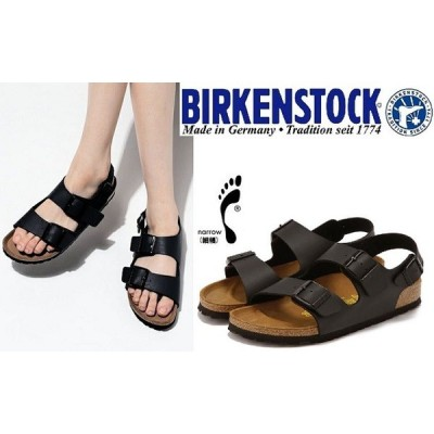 BIRKENSTCK ビルケンシュトック 靴  ビルケン  MILANOミラノ 034793 細幅 黒ブラック サンダル ナロータイプ