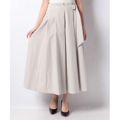 【レリアン】 タックロングスカート レディース ベージュ系 9 Leilian