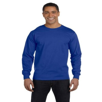 ユニセックス 衣類 トップス Hanes Adult Beefy-T Long-Sleeve T-Shirt Style 5186 Tシャツ