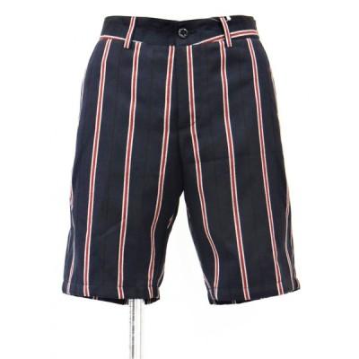 ショートパンツ メンズ ストライプ 柄 膝上 パンツ ハーフパンツ ハーフ XSサイズ 42