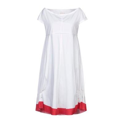 L.V..N. ミニワンピース&ドレス ホワイト 42 コットン 68% / ナイロン 28% / ポリウレタン 4% ミニワンピース&ドレス