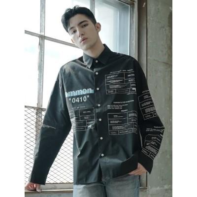 【commonロゴシャツ】韓国ファッション メンズ ユニセックス ストリート カジュアル