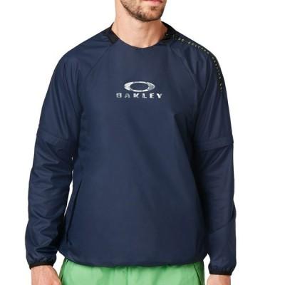 オークリー トレーニング ウェア エンハンス ウィンドクルー FOGGY BLUE 422633 6FB M L XL 撥水 防風 リフレクター 人気 正規商品販売店 返品交換不可商品