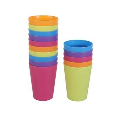 TOYMYTOY プラスチックコップ コップ カップ 耐熱 プラスチック プラカップ 200ml マルチカラー色 飲みカップ 再利用可能 耐