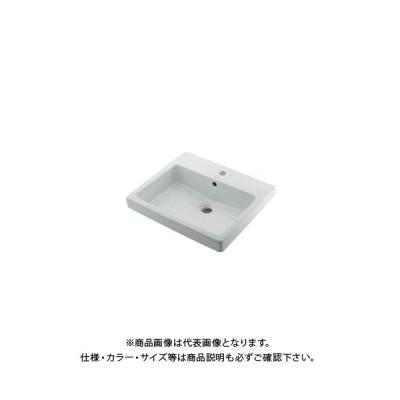 カクダイ 角型洗面器/1ホール DU-0315550000