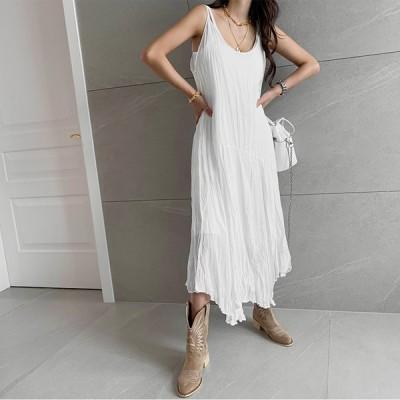[NANING9] (ナンニング)エルチョ プリーツ スリップ ワンピース韓国のファッションNO.1 #トレンドライクな大人女子コーデ