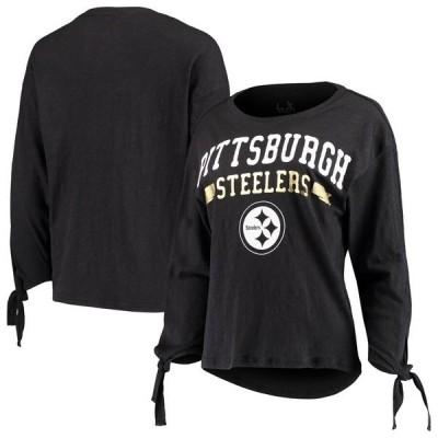 タッチ バイ アリッサ ミラノ レディース Tシャツ トップス Pittsburgh Steelers Touch by Alyssa Milano Women's On The Fly Long Sleeve T-Shirt