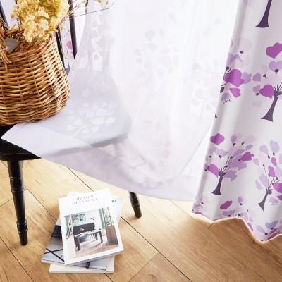 【オーダー】ハートの木のオーダーレースカーテン(Plune.)