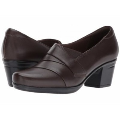 Clarks クラークス レディース 女性用 シューズ 靴 ヒール Emslie Warbler Dark Brown Leather【送料無料】