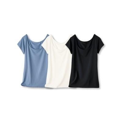 超冷感フレンチ袖インナー3枚組(吸汗速乾・UVカット)(L) (フレンチ袖・半袖・五分袖インナー)Underwear