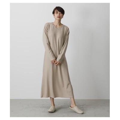 【アズールバイマウジー】 T/H PADDED DRESS レディース L/BEG1 FREE AZUL BY MOUSSY