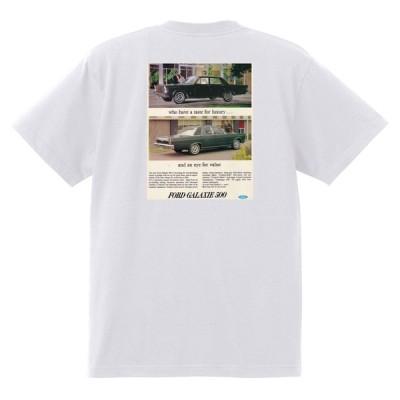アドバタイジング フォード 780 白 Tシャツ 黒地へ変更可 1965 サンダーバード ギャラクシー ファルコン フェアレーン マスタング ブロンコ f100