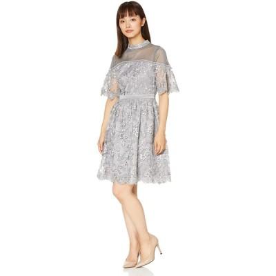 [リリーブラウン] コード刺繍ドレス LWFO195006 レディース BLU 日本 1 (日本サイズ9 号相当)