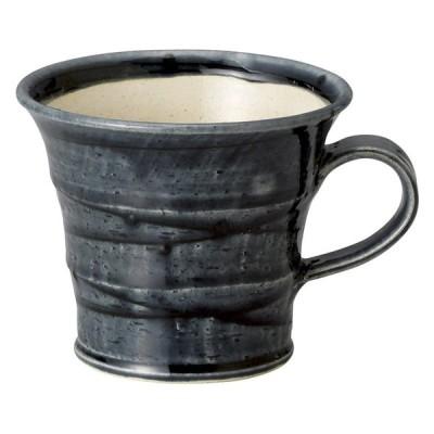 プレゼント マグカップ / スパイラル(藍釉)マグ 寸法: 10 x 8.2cm・265cc 163g