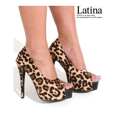 セール オープントゥプラットフォームパンプス anap Latina(アナップラティーナ)