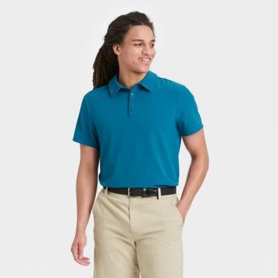 オールインモーション All in Motion メンズ ポロシャツ トップス Stretch Woven Polo Shirt - Dark Night Blue