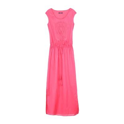 LAURÈL ロングワンピース&ドレス フューシャ 36 コットン 100% ロングワンピース&ドレス