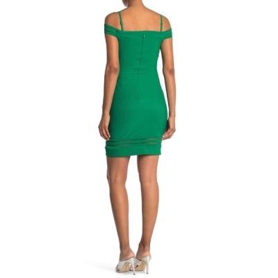 ゲス レディース ワンピース トップス Off-The-Shoulder Mini Dress GREEN