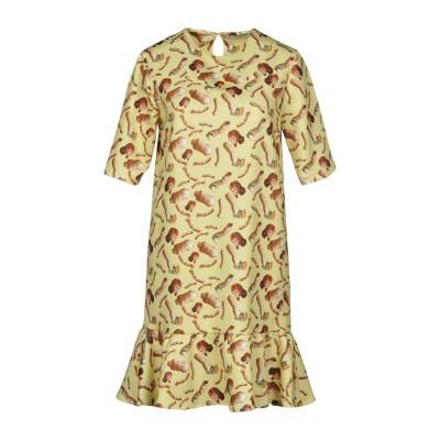 GIORGIA FIORE ミニワンピース&ドレス イエロー 40 ポリエステル 95% / ポリウレタン 5% ミニワンピース&ドレス