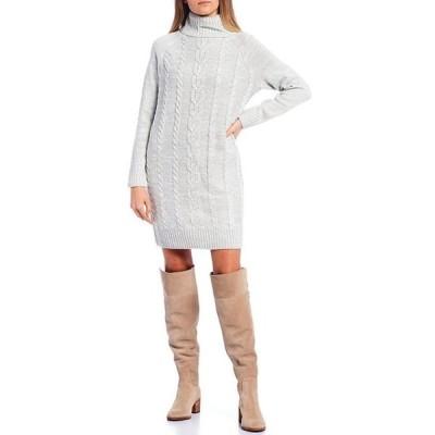 カッパーキー レディース ワンピース トップス Turtle Neck Cable Knit Dress