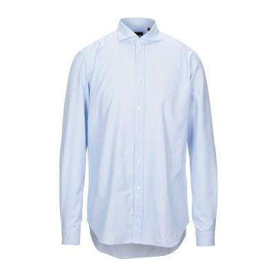 LIU •JO MAN シャツ スカイブルー 41 コットン 100% シャツ