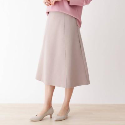 シューラルー SHOO-LA-RUE ホイップクリームタッチ ダンボ-ルニット 切り替えフレアースカート (オリーブグリーン)