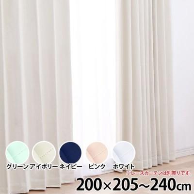 カーテン おしゃれ 安い 遮光 1級 IPモノクローム 幅200cm×丈205〜240cm×1枚組み (代引不可)(TD)