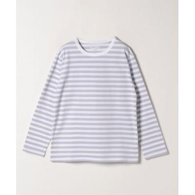 (agnes b. FEMME/アニエスベー ファム)J008 TS ボーダーTシャツ/レディース サックス×ホワイト