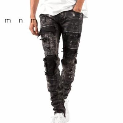 mnml ミニマル M140 STRETSH DENIM BLACK ストレッチ デニム パンツ ジーンズ 28/29/30/32/34