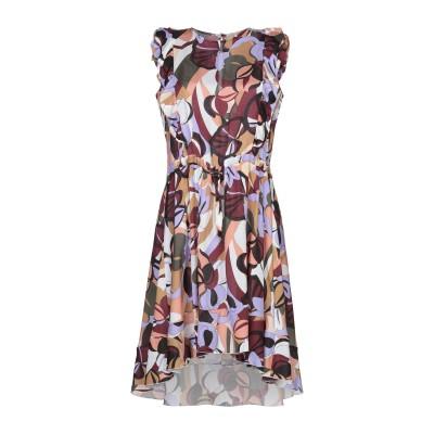 KAOS JEANS ミニワンピース&ドレス ボルドー 42 レーヨン 100% ミニワンピース&ドレス