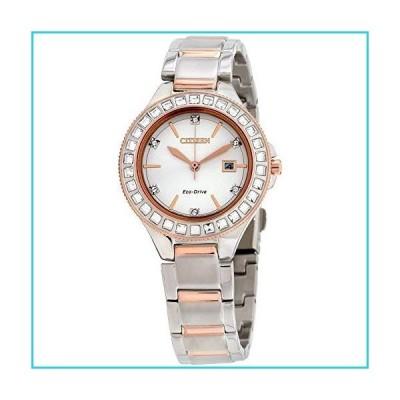 Citizen Women's Silhouette Crystal 31mm Two Tone Steel Bracelet Steel Case Eco-Drive Watch FE1196-57A【並行輸入品】