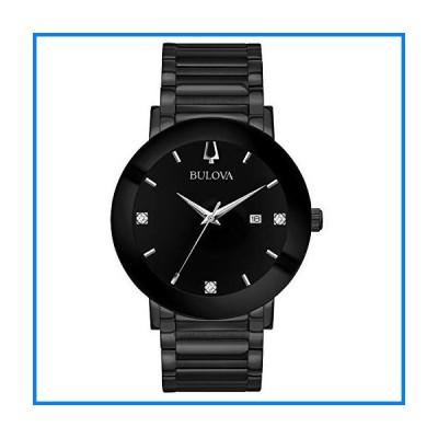 ブローバ メンズ ステンレススチール製カジュアル腕時計 モダンクオーツ 色:ブラック (モデル: 98D144)
