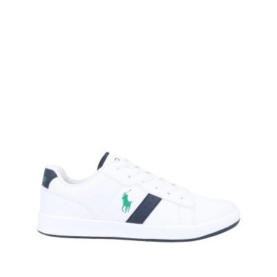 ラルフローレン RALPH LAUREN スニーカー&テニスシューズ(ローカット) ホワイト 5.5Y 革 / 紡績繊維 スニーカー&テニスシューズ
