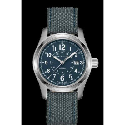ハミルトン 腕時計 New Hamilton Khaki Field Auto Blue Dial Textile Band メンズ Watch H70605943