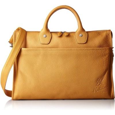 [キタムラ] ビジネスバッグ 2way Y-0682 キャメル/オレンジステッチ [茶色] 61421