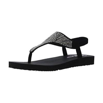 Skechers レディース 瞑想 ? ニュームーン スリングバックサンダル US サイズ: 6 カラー: ブラック