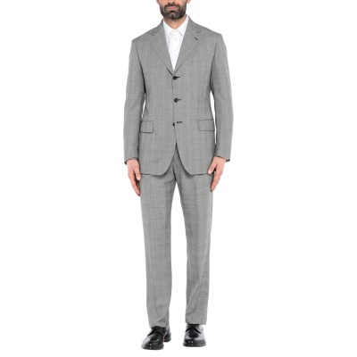 アスペジ ASPESI スーツ グレー 50 スーパー120 ウール 99% / カシミヤ 1% スーツ