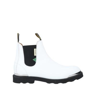 ランバン LANVIN ショートブーツ ホワイト 45 牛革(カーフ) 100% ショートブーツ