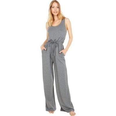 ベアフットドリームス Barefoot Dreams レディース オールインワン ジャンプスーツ Malibu Collection Luxe Lounge Wide Leg Jumpsuit Medium Heather Gray