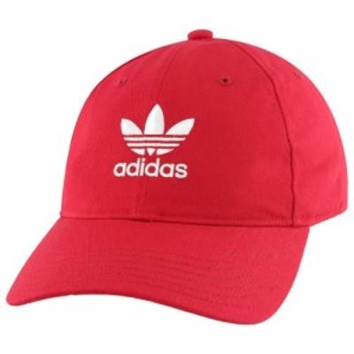 アディダス オリジナルス メンズ adidas Originals Washed Relaxed Strapback キャップ 帽子 Scarlet