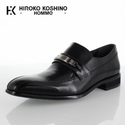 ヒロコ コシノ オム HIROKO KOSHINO HOMME HK130 ブラック メンズ 靴 ビジネスシューズ スワールモカ ビット ローファー スリッポン 3E