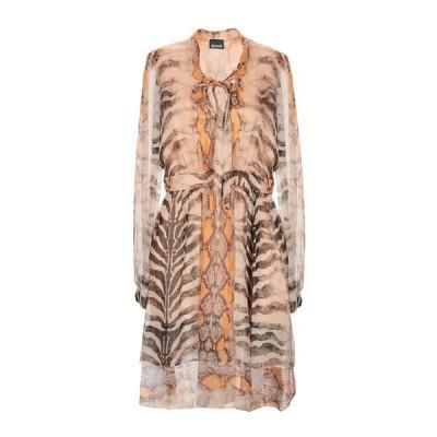 JUST CAVALLI シルクドレス ファッション  レディースファッション  ドレス、ブライダル  パーティドレス サンド