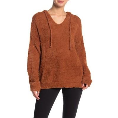 ラッシュ レディース ニット&セーター アウター V-Neck Pullover Sweater CAMEL