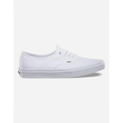 ヴァンズ メンズ スニーカー シューズ・靴 Authentic True White Shoes WHITE