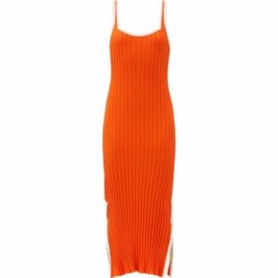 ソリッドandストライプ Solid and Striped レディース ワンピース スリットワンピース The Kimberly side-slit ribbed-jersey midi dress