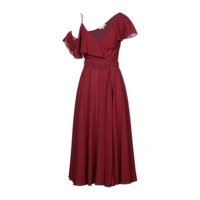 マイケル・コースコレクション MICHAEL KORS COLLECTION 7分丈ワンピース・ドレス ボルドー 2 シルク 100% 7分丈ワンピ