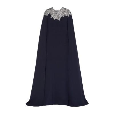 オスカー・デ・ラ・レンタ OSCAR DE LA RENTA ロングワンピース&ドレス ダークブルー S シルク 100% ロングワンピース&ドレス
